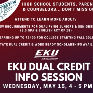 Dual Credit INFO SESSION at Manchester