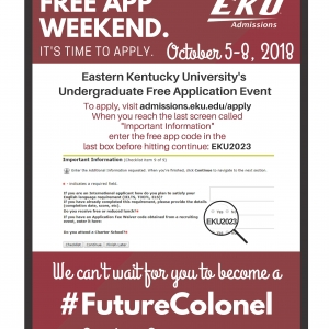 EKU FREE APP WEEKEND